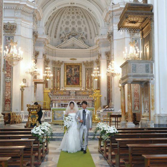 サンタトロフィメーナ教会挙式 M.T様&M.T様 イタリア